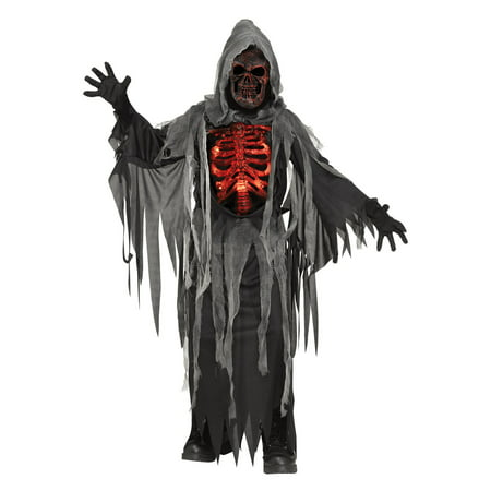 Smoldering Chest Light Up Reaper Child Costume - Light Up Dance Costumes