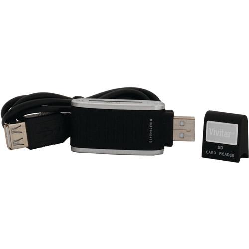 Vivitar VIV-RW-3000-BLK SDHC Card Reader, Black