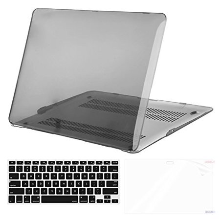 - Mosiso Plastic Hard Case with Keyboard Cover with Screen Protector for MacBook Air 11 Inch (Models: A1370 and A1465), Transparent Black