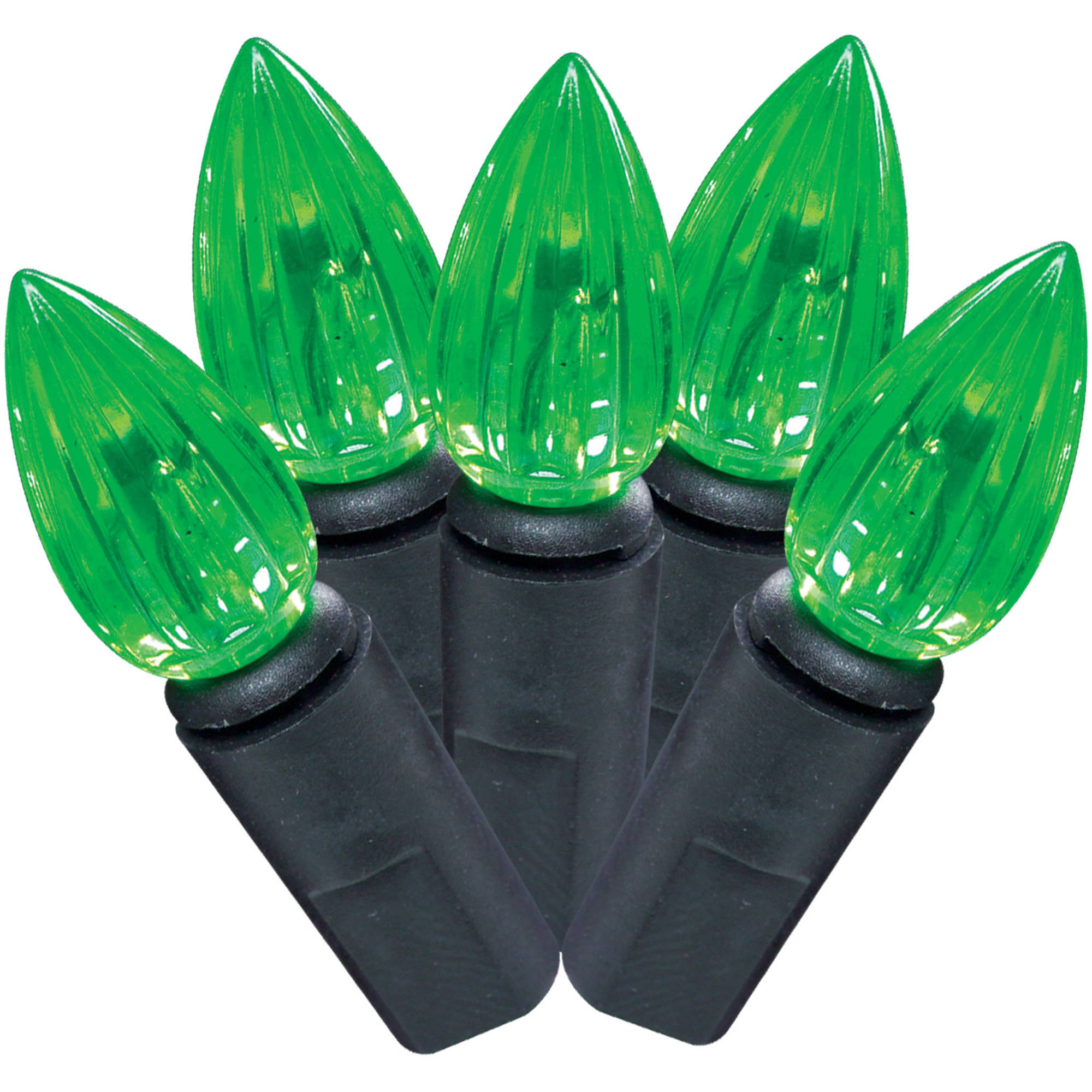 Halloween LED Vertical Cut C3 Lights, Green, 50pk