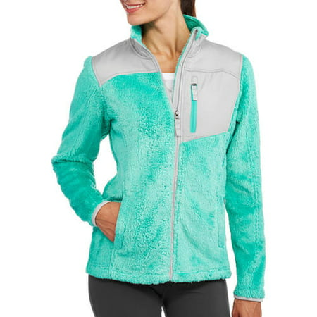 Faded Glory Sports Fleece Jacket Missy - Walmart.com
