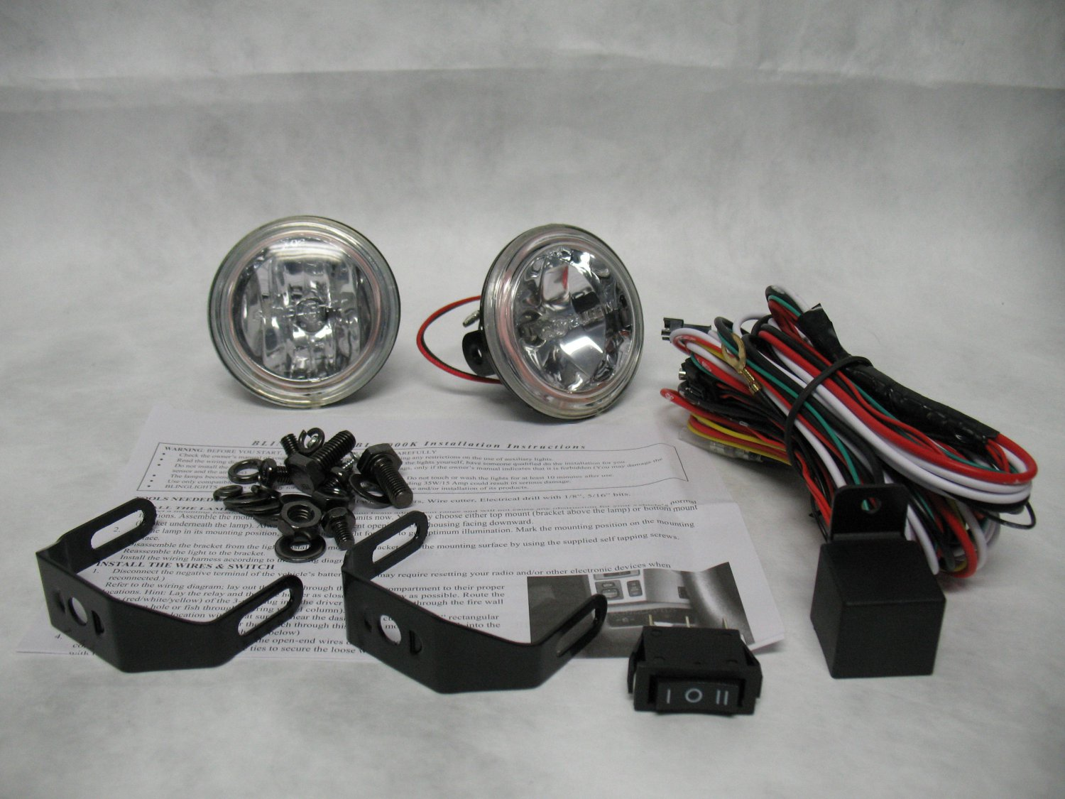 Motorcycle Fog Light Kit Wiring Harness Kits
