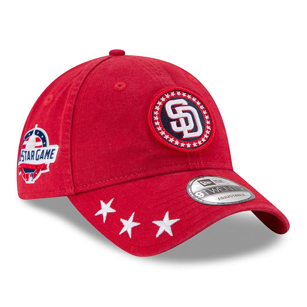 San Diego Padres New Era 2018 MLB All-Star Workout 9TWENTY Adjustable Hat - Red - OSFA