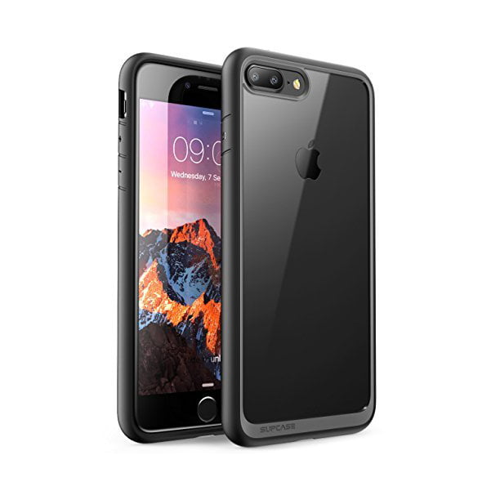 Iphone 7 Plus Case, iPhone 8 Plus Case, SUPCASE Unicorn Beetle Style Premium Hybrid Protective Clear Bumper Case, Black