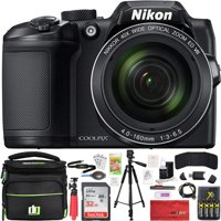 Nikon 26506 COOLPIX B500 16MP 40x Optical Zoom Digital Camera Black Bundle with 32GB Memory Card, Deco Gear Camera Bag, Deco Gear 60 Inch Tripod 4x Rechargeable AA Batteries with Charger and More