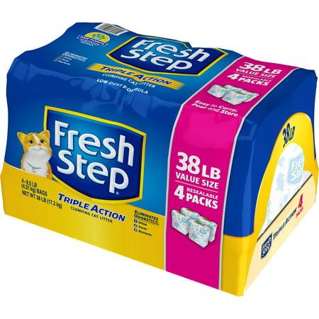Fresh Step Triple Action Scented Litter, Clumping Cat Litter, 38 - Halloween Cat Litter Cake