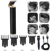 Hair Clippers for Men, Electric Pro T-outliner Outliner Grooming Rechargeable Cordless Close Cutting T-Blade Trimmer, Household Hair Clipper Kit -Black