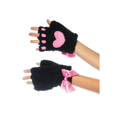 Simple Black Cat Costume (Leg Avenue Women's Adult Cat Paw Gloves Costume Accessory, Black,)