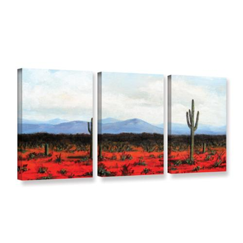 ArtWall  'Gene Foust's Volumes' 3-piece Gallery Wrapped Canvas Set Extra Large