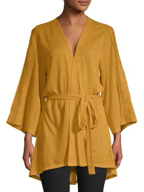 Time and Tru Women's Pointelle Kimono