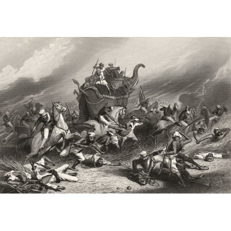 Indiana Rose (Defeat Of The Peishwas Army Before Jhansi By General Rose April 1St 1858 From The History Of The Indian Mutiny Published 1858 PosterPrint)