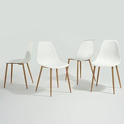 Greenforest Eames Dining Chair Metal Wood Legs Plastic