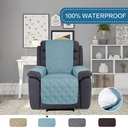 Pleasant Soft Quilted 100 Waterproof Furniture Cover Non Slip Sofa Protector For Pets 91 Inch X 84 Inch Oversized Recliner Smoke Blue Customarchery Wood Chair Design Ideas Customarcherynet