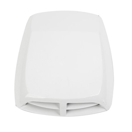 Ford Hood Scoops (Decorative White Port Hole Scoop Vent Cover Air Flow Hood for Car Auto)