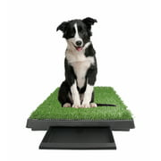 """Large Pet Potty Patch - Dog Training Bathroom Pad Indoor Or Outdoor Use W/Tray 25"""" X 20"""" X 2"""""""
