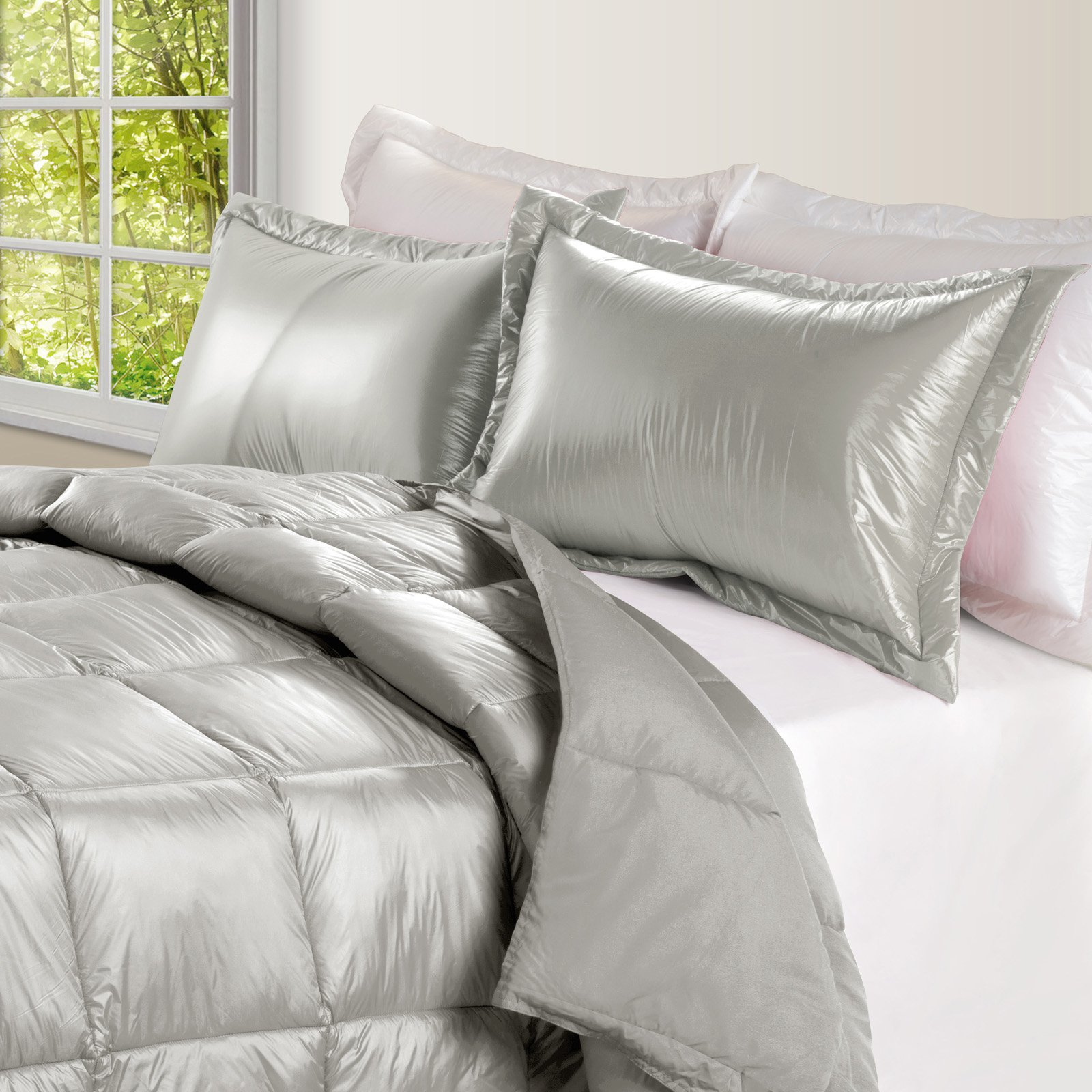 PUFF High Loft Down Indoor/Outdoor Water Resistant Comforter with Extra Strong Nylon Cover