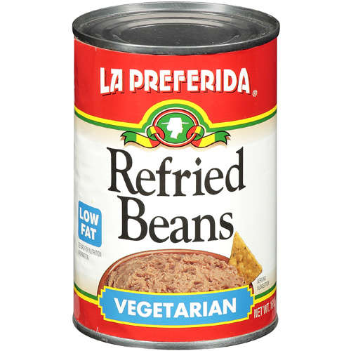 La Preferida Refried Beans Vegetarian, Low Fat, 16 Oz