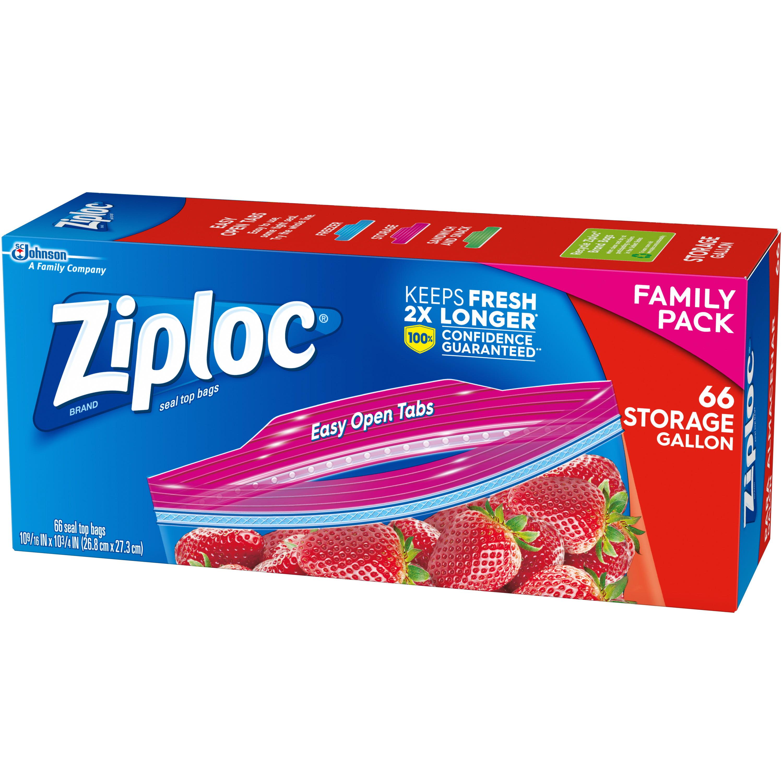 Ziploc Storage Bags Gallon 66 Ct