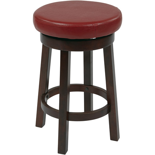 Osp Designs Metro Counter Height Leather Round Stool 24