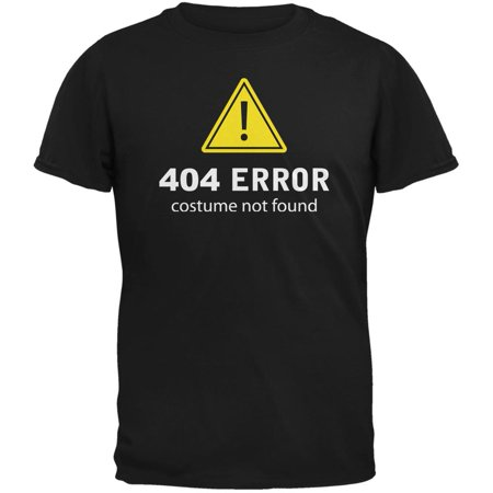 Halloween 404 Costume Not Found Black Adult - 404 Halloween Costume Not Found
