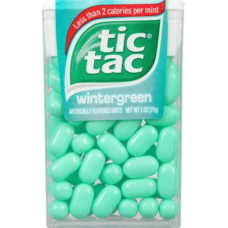 Tic Tac Mints, Wintergreen Singles, 1 oz (Blue Tic Tacs)