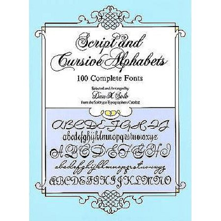Script and Cursive Alphabets : 100 Complete - Alphabet In Script