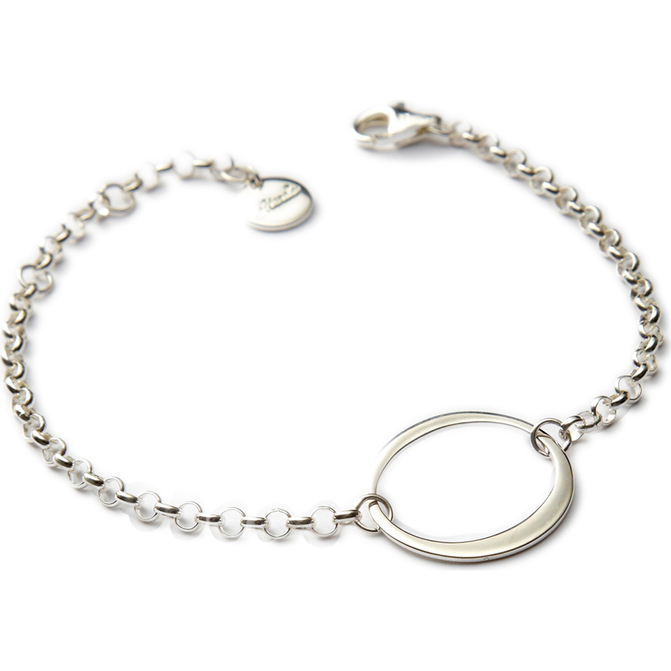 Personalized RedEnvelope Inspire Heart, Circle or Cross Sterling Silver Bracelet