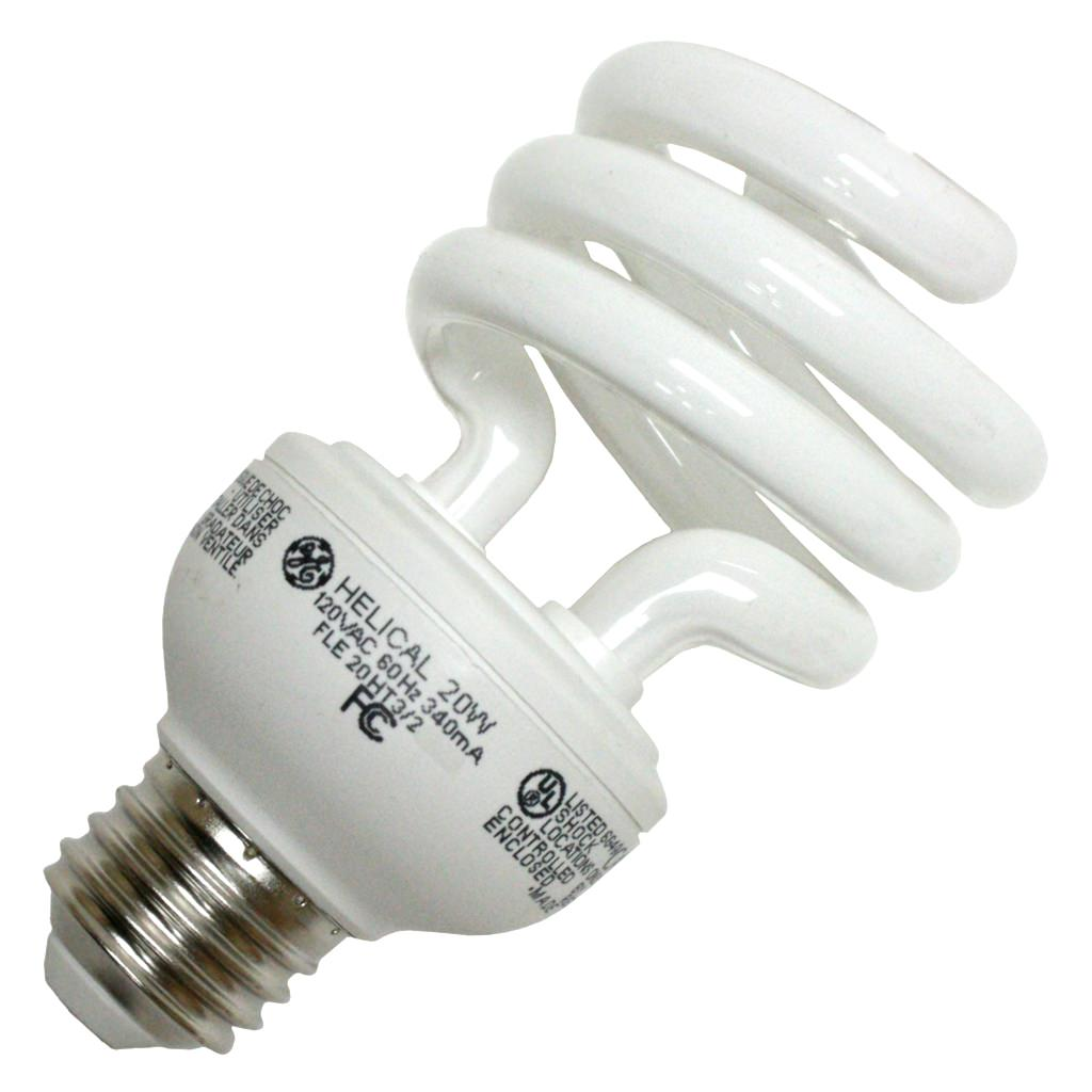 GE 89094 - FLE20HT3/2/D/CD Twist Medium Screw Base Compact Fluorescent Light Bulb