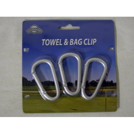 On Course Towel & Bag Clip (3 Hook Pack) Golf Accessory NEW - Glow In The Dark Golf Course