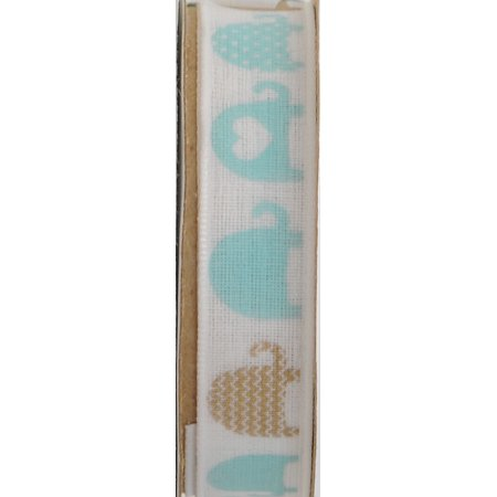 - OFFRAY RIBBON ELEPHANT LINE 5/8 INCHES AQUA