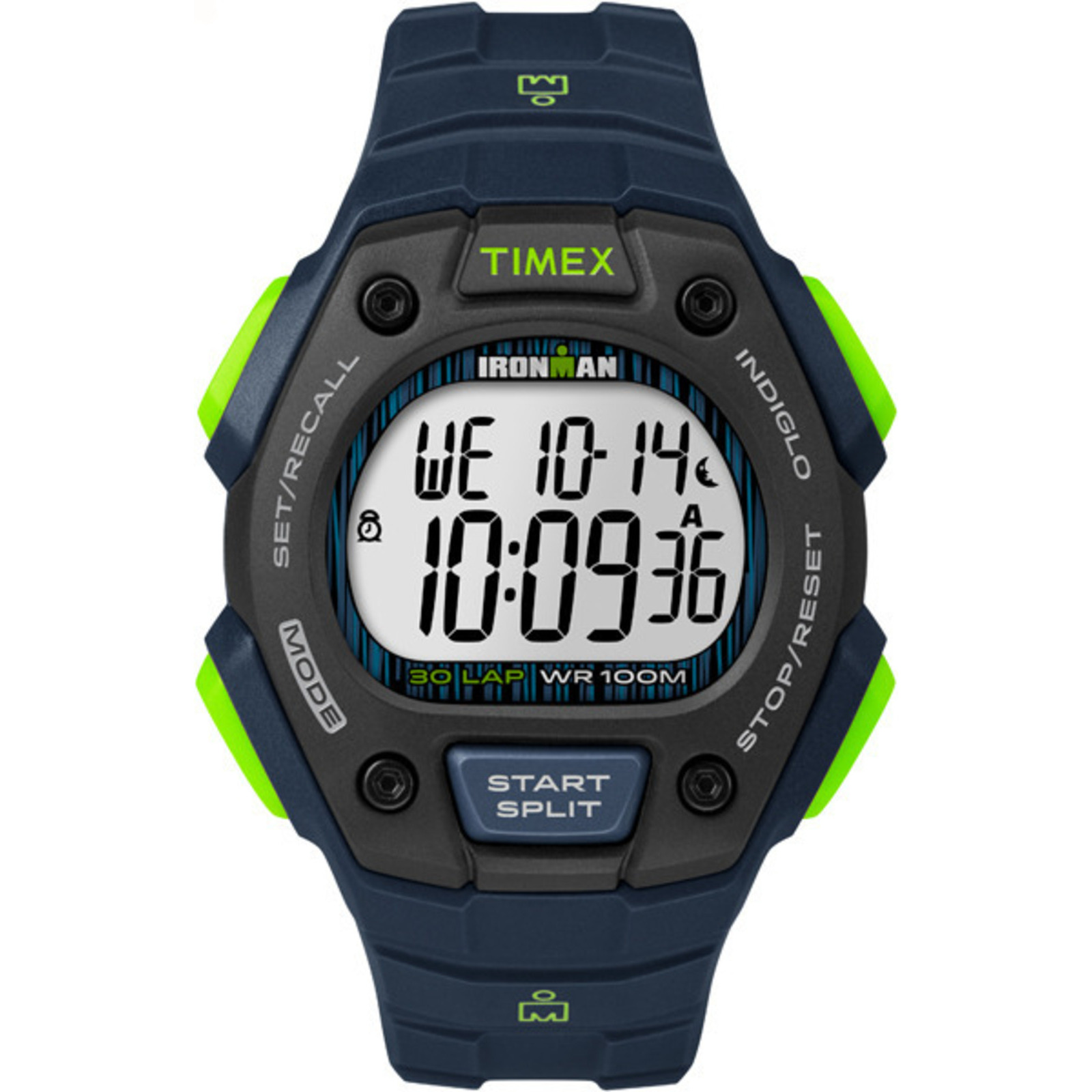 Timex Men's IRONMAN Classic 30 Full-Size Resin |Blue| Sport Watch TW5M11600