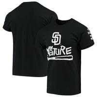 San Diego Padres Naughty by Nature Baseball T-Shirt - Black