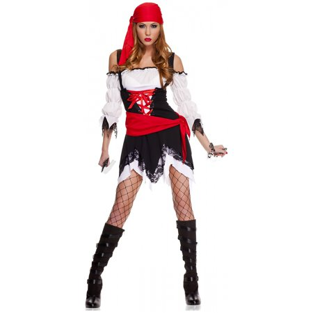 Pirate Vixen Adult Costume - Medium/Large - Vixen Pirate Halloween Costume