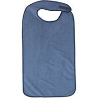 DMI Waterproof Adult Bibs for Eating, Adult Cloth Bib for Men and Women, Terry Cloth Adult Mealtime Clothing Protector for Senior Citizens, Navy