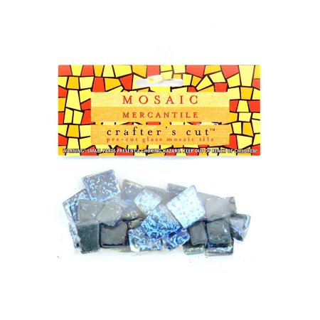 Crafter's Cut Gems - Sparkle Series ultramarine, 3/16 in., 1/6 lb. bag (pack of 4) (Gems Mosaic)