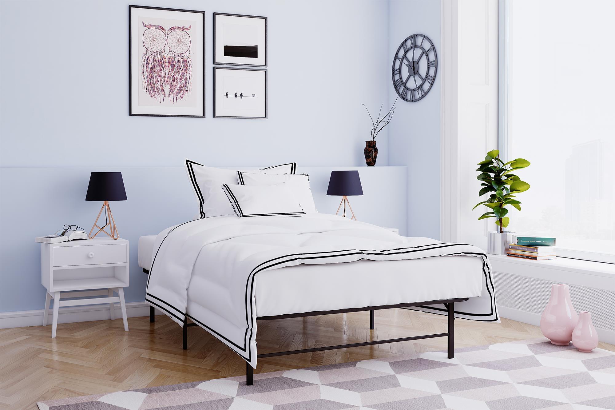Mainstays Metal Platform Bed Frame/Foundation, Black, Multiple Sizes ...