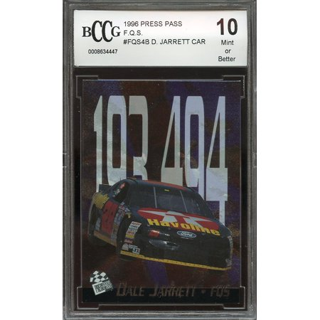 1996 press pass f.q.s. #fqs4b DALE JARRETT CAR BGS BCCG 10 2000 Press Pass Autographs