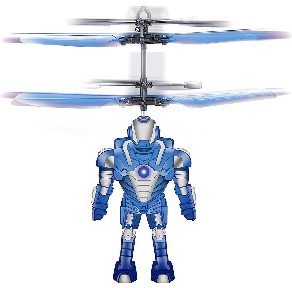 Robot Brigade Space Mini Drone Flying Helicopter Toy, Blue (Captain Black Star) by Blue Sky Wireless