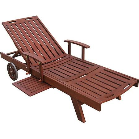 Sun lounger in oil finish - Sun chairs walmart ...
