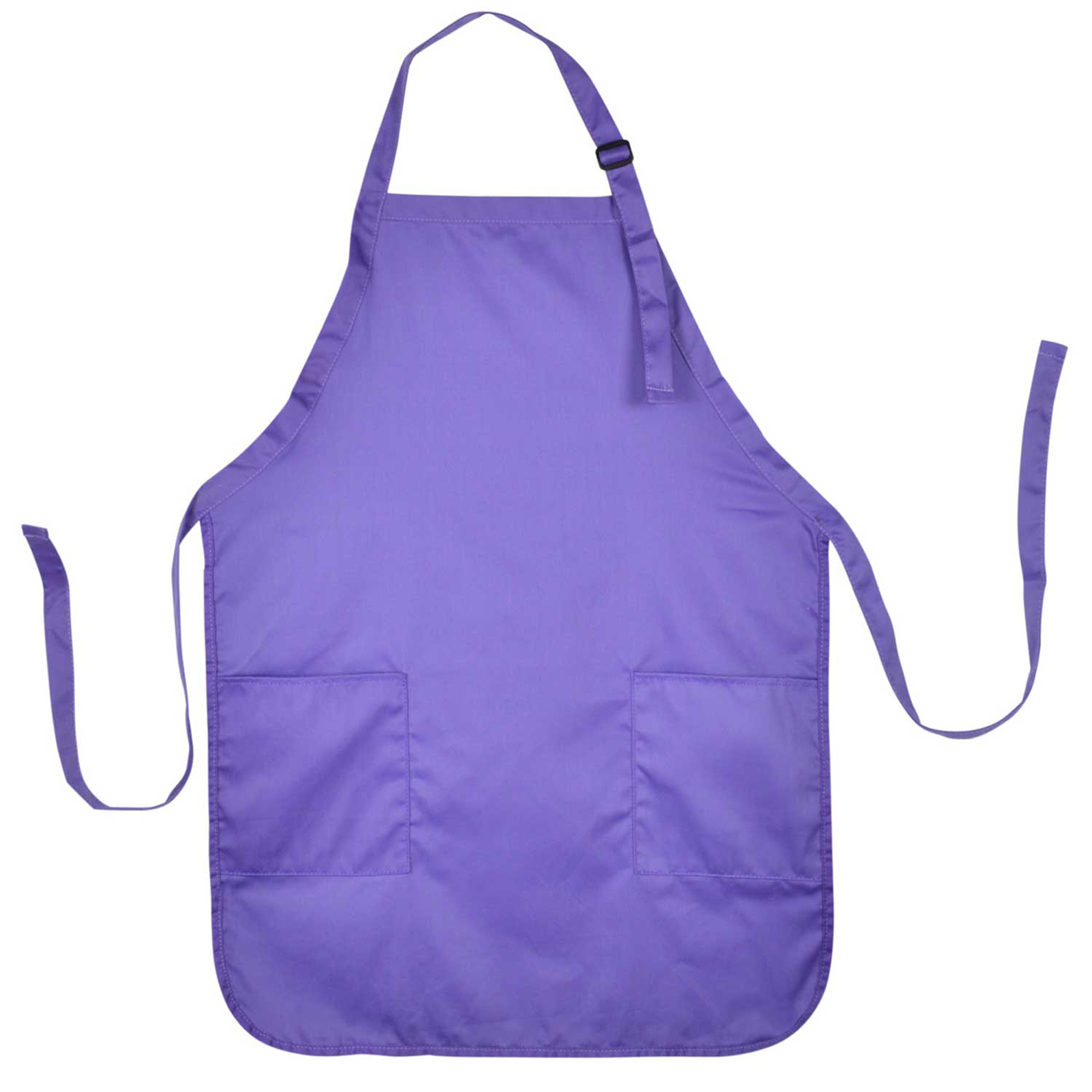 DALIX Apron Commercial Restaurant Home Bib Spun Poly Cotton Kitchen Aprons (2 Pockets) in Black