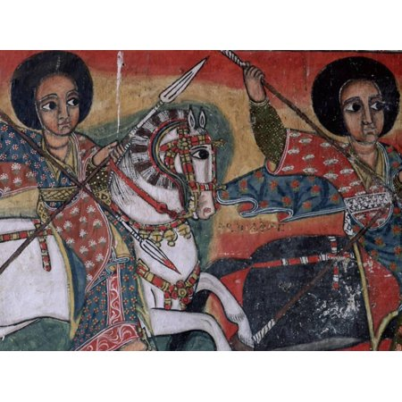 Christian Painting (Wall Paintings in the Interior of the Christian Church of Ura Kedane Meheriet, Lake Tana, Ethiopia Print Wall Art By Bruno)