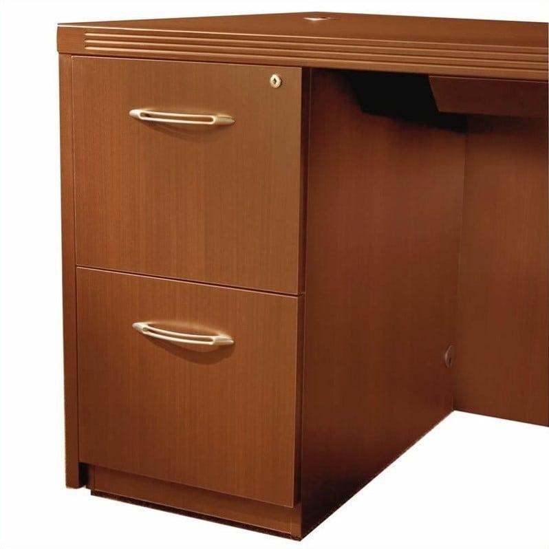 "Safco Aberdeen 26"" Deep 2 Drawer Desk File Pedestal in Cherry"