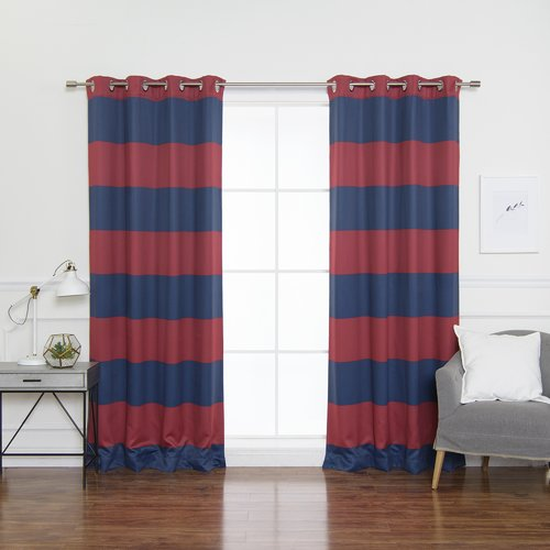 Best Home Fashion, Inc. Bold Curtain Panels (Set of 2)