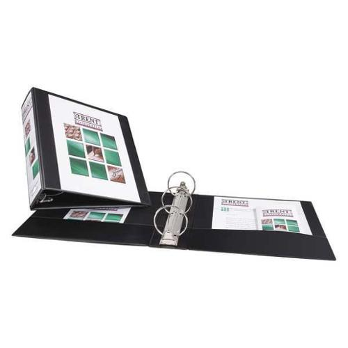 AVERY AVE05740 Economy Binder,Round,3 in.,View,Black G1953485