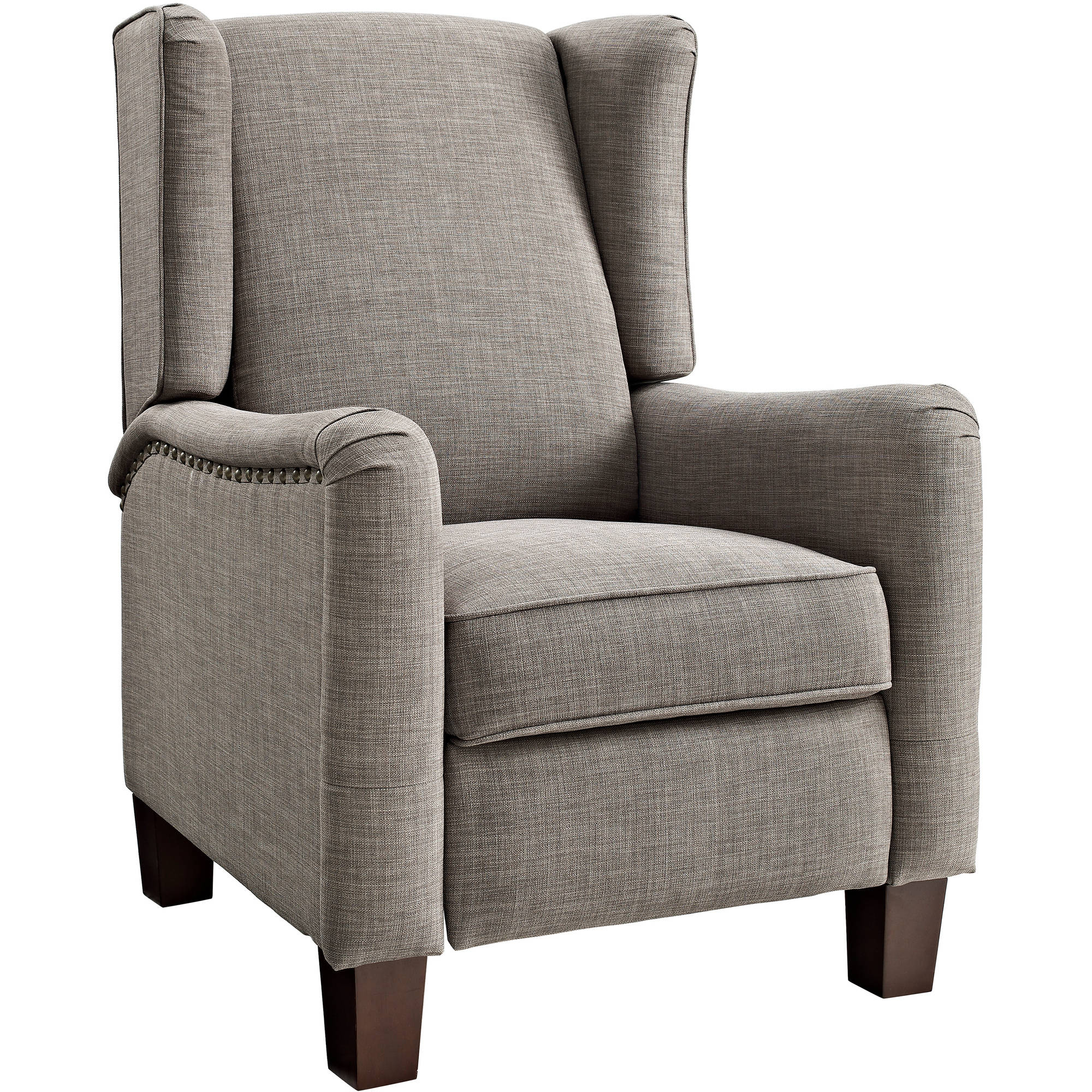 Better homes and gardens grayson wingback pushback for Wing back recliner chair