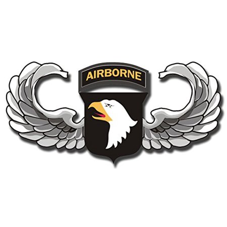 Army Jump Wings (US Army 101st Airborne Jump Wings Decal Sticker 3.8