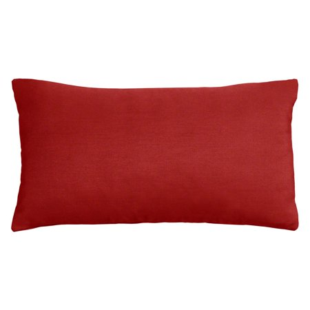 Cushion Source 20 x 12 in. Solid Sunbrella Indoor / Outdoor Lumbar Pillow ()
