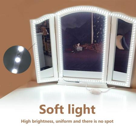 WALFRONT 240 LEDs Makeup Mirror Light Dressing Table DIY Mirror Flexible Light Strips Kit - Comic Strip Makeup