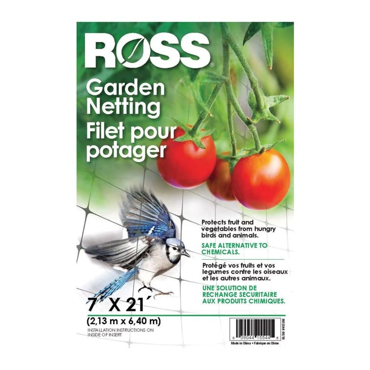 Ross 15544 21-Foot x 7-Foot Multi-Use Garden Netting, Black