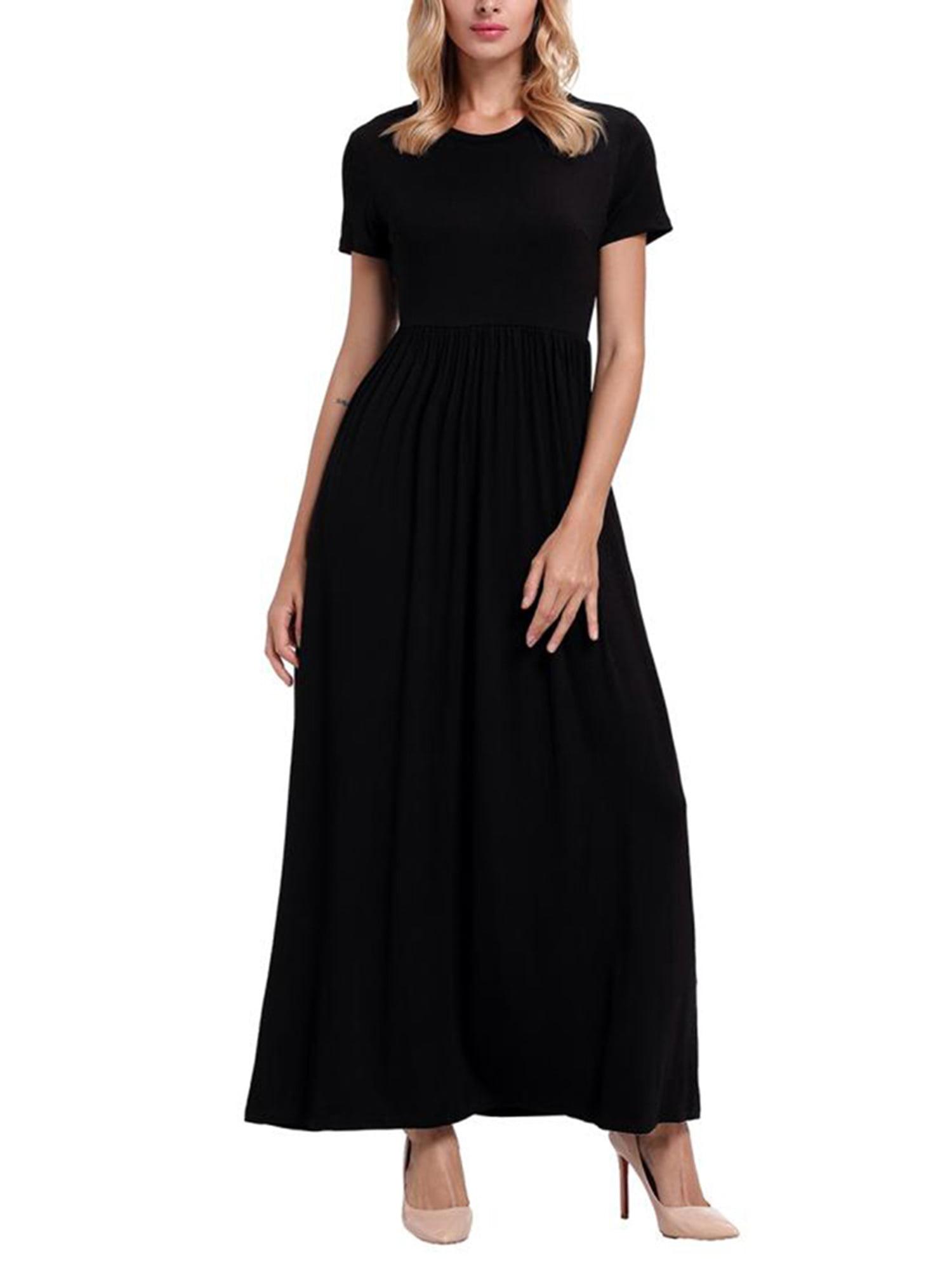 ec642a717 Women Long Maxi Dresses Casual Plus Size Fashion Shirt Dresses ...